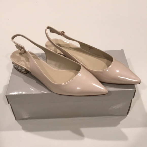 Marc Fisher Shoes - Marc Fisher Rise Slingback Pearl Flats (Size 8.5)